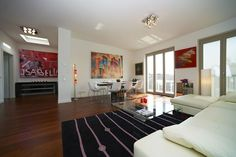 Luxury Berlin Penthouse apartment for short stays. Bespoke furniture and contemporary art work