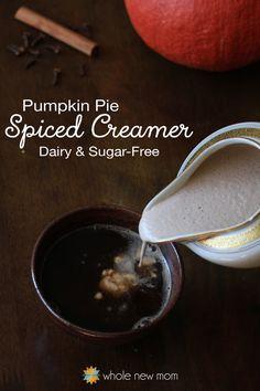 Pumpkin Pie Spiced Creamer by @WholeNewMom