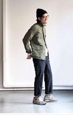 Minimal khaki + New Balance