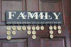 Family Birthday and Anniversary Calendar by rachaelwindemuller, $45.00
