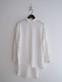 ヴェリテクール Veritecoeur シルク混背開きシャツ