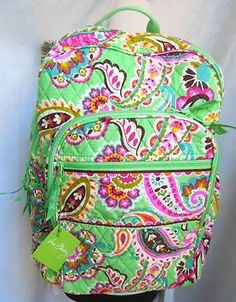e5d1c59fe7cb Vera Bradley Large Campus Backpack NEW TAG AUTHENTIC Tutti Frutti Back To  School Uniform