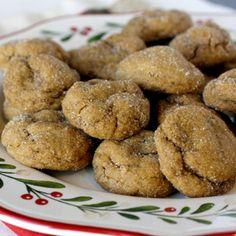 Ginger Molasses Pillow Cookies