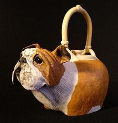 National Teapot Show VII - Christy Crews Dunn - Bulldog Teapot