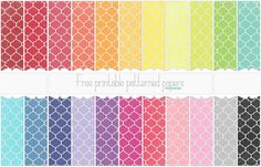 Endless sets of patterned & solid printables! (Melissa's Site)