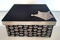 Caixa MDF decorada - princess