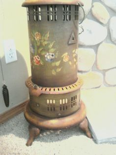 Antique Perfection Kerosene heater.  Found on Craigslist - one of my favorite collectibles.