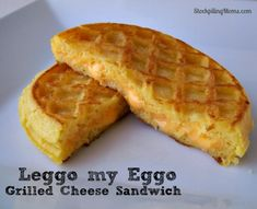 Eggo waffle recipes, grilled cheese Sammie's, ice cream Sammie's! Lots of great recipes