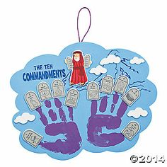 Ten Commandments Handprint Craft Kit (make this ourselves?)