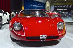 Possibly the most beautiful car on show, Alfa Romeo's classic 33 Stradale