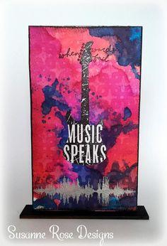 Visible Image stamps - Music Speaks - Guitar - soundwave - Susanne Rose 1