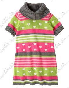 NWT Gymboree Loveable Giraffe Heart Stripe Sweater Dress - Size 4 - 1 available - $22 shipped