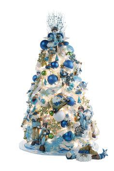 Estilo nórdico que rompe con los colores clásicos de la Navidad.