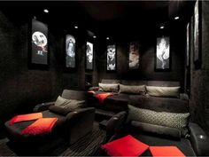 Chaise lounge media room chairs ~