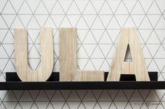 Drewniana litera 3D Duża - postarzane drewno - PiatyElement - Litery i napisy