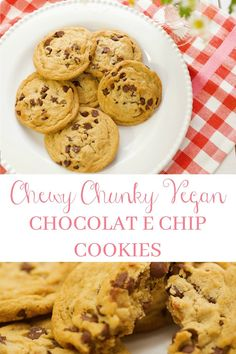 Who doesn't love a good 'ol Homemade Chocolate Chip Cookie every once in awhile. This recipe is a healthier version and it is a winner. Chocolate Chip Cookies Ingredients, Homemade Chocolate Chip Cookies, Sweets Recipes, Vegan Recipes, Desserts, Pj Party, Pie Cake, Vegan Baking, Clean Eating Recipes