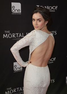 Lily Collins sheer back