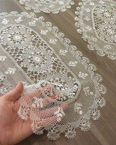 - Her Crochet - Diy Crafts - maallure Diy Crafts Knitting, Diy Crafts Crochet, Free Crochet Doily Patterns, Crochet Borders, Lace Doilies, Crochet Doilies, Crochet Hammock, Lace Weave, Teneriffe
