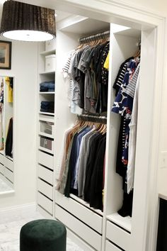 Trendy walk in closet drawers ikea pax ideas Closet Drawers Ikea, Ikea Closet Hack, Ikea Pax Wardrobe, Closet Hacks, Sliding Wardrobe Doors, Wardrobe Closet, Wardrobe Storage, Closet Organization, Closet Ideas