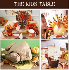 The Kids Table for Thanksgiving