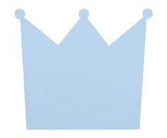 Cabecero de cama Corona, azul - 90x80 cm