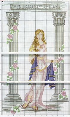 0 point de croix venus goddess of love - cross stitch part 2