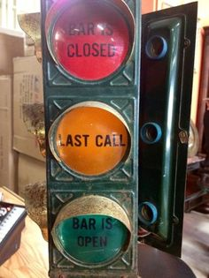Bar ANTIQUE Stop Sign Light