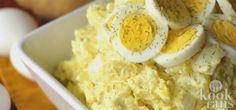 Heerlijke simpele huisgemaakte aardappelsalade! Jummie!