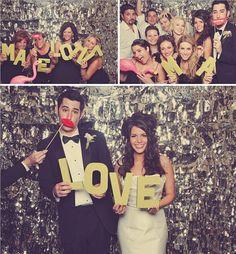 New Year's Eve Wedding: Sparkly photobooth #ido #inspiration