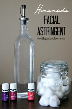 Homemade Facial Astringent!  Only two ingredients and ALL NATURAL!