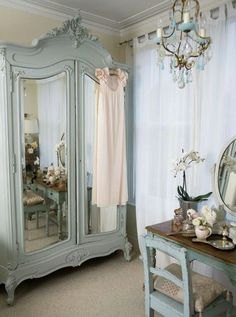 ultimate guide to buying bras: how to measure bra size I would kill for that wardrobe! - Woman And Home - Painted Armoire + DresserI would kill for that wardrobe! - Woman And Home - Painted Armoire + Dresser Shabby Chic Bedrooms, Bedroom Vintage, Shabby Chic Homes, Shabby Chic Decor, Vintage Home Decor, Vintage French Decor, Vintage Style, Vintage Armoire, French Armoire