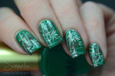 Vihreää ja lehtevää viuhkamanikyyriä