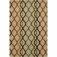 Shop for Artist's Loom Hand-Tufted Contemporary Geometric Pattern New Zealand Wool Rug (5'x7'6