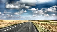 The Open Road - - - - -  #Scotland #clouds #sky #moors #countryside #landscape #motorcycle