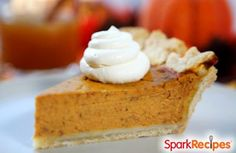 The Perfect LOW FAT Pumpkin Pie Recipe | via @SparkPeople #food #dessert #holiday #thanksgiving