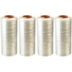 """4 Rolls Polyethylene Virgin High Quality Cast Stretch Wrap 1500' Length x 18"""" Width x 28 Ga Thick, Clear Shrink Wrap 14429-4PK"""