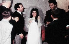 Second wedding reception at Graceland May - for family and friends unable to attend the Vegas ceremony. -- Joe kissing Priscilla with Elvis jokingly whacking Joe on the nose. Elvis Wedding, Wedding Pics, Wedding Reception, Wedding Day, Wedding Verses, Budget Wedding, Priscilla Presley Wedding, Elvis And Priscilla, Elvis Presley Family