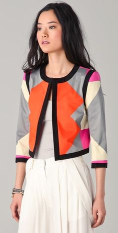 10 Crosby Derek Lam  - Graphic Print Jacket