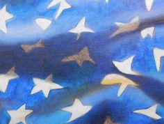DIPINTO AD OLIO SU TELA. Bandiera americana. Oil painting on canvas. Home decor…