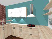 kuchynská linka na mieru, moderna kuchyna, kuchyna s pultom