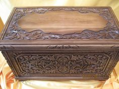 walnut carved turkish box