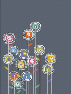 Square Flowers PDF Cross Stitch Pattern by XSquaredCrossStitch, $6.00