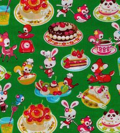 FABRIC KISS The COOK Japanese Cosmo fabric