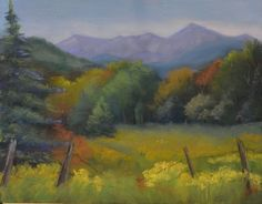 """View of Whiteface from Harrietstown"" by Susan Whiteman, 2014 participant in the Artist at Work Studio Tour."