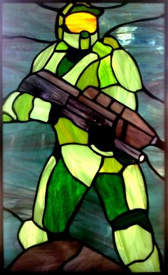 Halo Master Chief Stained Glass