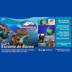 Escuela de Buceo SSI: CHIDIVERS SERVICIO INTEGRAL DE SUBMARINISMO. Tenemos más de 20 años de experiencia, contamos con un Staff Profesional de Instructores de Buceo, Divecon y Guías. Organizamos Viajes y Excusiones. Somos Tienda de venta, alquiler y servicio técnico para equipos de buceo. Teléfono: 0212-731.15.56 / 14.10. Dirección: Urb. La Florida, Caracas. Av. Don Bosco, Quinta ABC #10. Más Información visita…