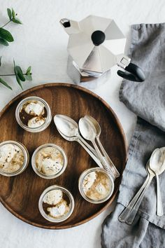Affogato with cacao nib ice cream using the Vitamix