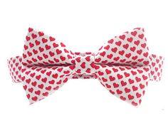 Heart Dog Collar Bow Tie