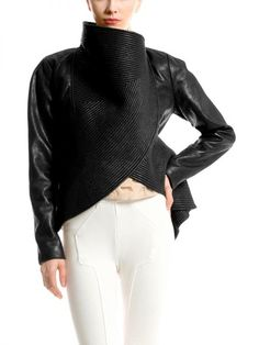 Black Vegan Leather Peplum Jacket | Pretty Haute