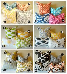 Designer Pillow Covers // 24 Prints in Your Choice by lookherejane, $24.00